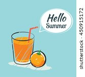 hand drawing hello summer card. | Shutterstock .eps vector #450915172
