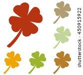 leaf clover sign. colorful...