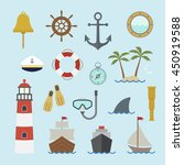 marine and nautical icon | Shutterstock .eps vector #450919588