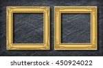gold duo frame on dark grey... | Shutterstock . vector #450924022
