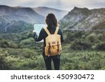 hipster young girl with ... | Shutterstock . vector #450930472