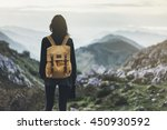 hipster young girl with... | Shutterstock . vector #450930592