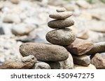 pile of balanced stones as zen... | Shutterstock . vector #450947275