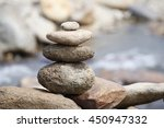 pile of balanced stones as zen... | Shutterstock . vector #450947332