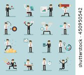 set of businessman activities... | Shutterstock .eps vector #450950542