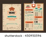 restaurant food menu design... | Shutterstock .eps vector #450950596