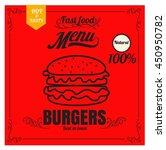 restaurant fast foods menu... | Shutterstock .eps vector #450950782