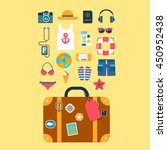 set of flat vector icons for... | Shutterstock .eps vector #450952438