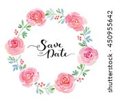 wedding invitation template... | Shutterstock . vector #450955642