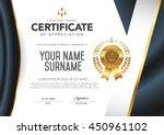 certificate vector luxury...   Shutterstock .eps vector #450961102