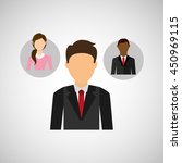 man in suit networking and... | Shutterstock .eps vector #450969115