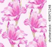 watercolor hand paint pink ... | Shutterstock . vector #450971248