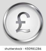 concept metallic pound symbol... | Shutterstock .eps vector #450981286