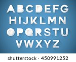 vector of stylized paper font... | Shutterstock .eps vector #450991252
