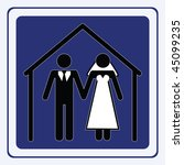 wedding sign | Shutterstock .eps vector #45099235