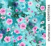 floral seamless pattern. five... | Shutterstock . vector #450995566