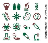 biohazard  toxic icon set | Shutterstock .eps vector #450996328