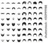 barber shop logo labels badges...   Shutterstock .eps vector #450999988