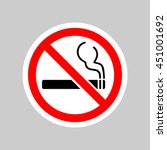 no smoking sign | Shutterstock .eps vector #451001692