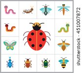 insects icon set | Shutterstock .eps vector #451007872