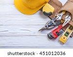 set of construction tooling in... | Shutterstock . vector #451012036