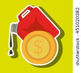 gallon gasoline isolated icon... | Shutterstock .eps vector #451020382