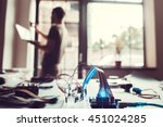 smart home system connection to ... | Shutterstock . vector #451024285