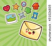 technology and social media...   Shutterstock .eps vector #451026835