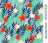 seamless pattern. tropical... | Shutterstock .eps vector #451027318