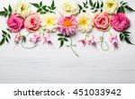 festive flower composition on... | Shutterstock . vector #451033942