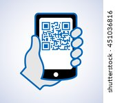 qr code scanning with mobile... | Shutterstock .eps vector #451036816