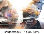 business team meeting present.... | Shutterstock . vector #451037398