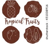 tropical fruits icons on the... | Shutterstock .eps vector #451038916