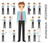 set of business man character... | Shutterstock .eps vector #451039402