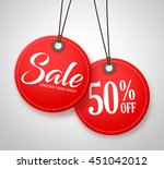 circle sale tags design with... | Shutterstock .eps vector #451042012