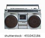 silver retro ghetto blaster or...   Shutterstock . vector #451042186