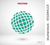 globe earth icon | Shutterstock .eps vector #451044115