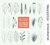 collection of hand drawn... | Shutterstock .eps vector #451055986