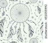 seamless pattern   print with... | Shutterstock .eps vector #451055992