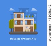 modern apartments building for... | Shutterstock .eps vector #451056142