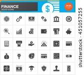 finance vector icons set  money ... | Shutterstock .eps vector #451057255
