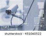 cctv camera or surveillance... | Shutterstock . vector #451060522