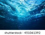 sea underwater view. beauty... | Shutterstock . vector #451061392