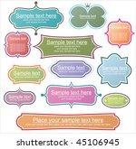 retro styled frames | Shutterstock .eps vector #45106945