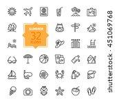 outline web icon set   summer ... | Shutterstock .eps vector #451069768