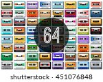 music. collection of retro... | Shutterstock .eps vector #451076848