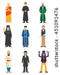 color icons set of religion... | Shutterstock .eps vector #451091476