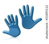 3d illustration of two blue...   Shutterstock . vector #451095112