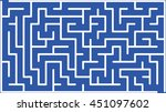 abstract vector labyrinth of... | Shutterstock .eps vector #451097602
