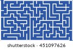 abstract vector labyrinth of... | Shutterstock .eps vector #451097626